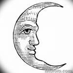 фото Эскизы тату полумесяц от 18.06.2018 №162 - Sketches of a moon tattoo - tatufoto.com