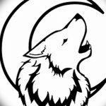 фото Эскизы тату полумесяц от 18.06.2018 №166 - Sketches of a moon tattoo - tatufoto.com