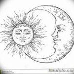 фото Эскизы тату полумесяц от 18.06.2018 №167 - Sketches of a moon tattoo - tatufoto.com