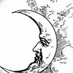 фото Эскизы тату полумесяц от 18.06.2018 №168 - Sketches of a moon tattoo - tatufoto.com