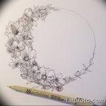 фото Эскизы тату полумесяц от 18.06.2018 №170 - Sketches of a moon tattoo - tatufoto.com