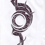 фото Эскизы тату полумесяц от 18.06.2018 №171 - Sketches of a moon tattoo - tatufoto.com