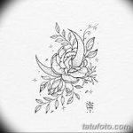 фото Эскизы тату полумесяц от 18.06.2018 №172 - Sketches of a moon tattoo - tatufoto.com