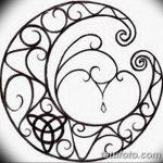 фото Эскизы тату полумесяц от 18.06.2018 №177 - Sketches of a moon tattoo - tatufoto.com
