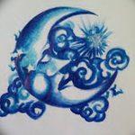 фото Эскизы тату полумесяц от 18.06.2018 №178 - Sketches of a moon tattoo - tatufoto.com