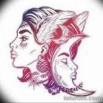 фото Эскизы тату полумесяц от 18.06.2018 №179 - Sketches of a moon tattoo - tatufoto.com