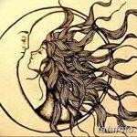 фото Эскизы тату полумесяц от 18.06.2018 №182 - Sketches of a moon tattoo - tatufoto.com