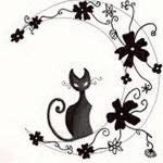 фото Эскизы тату полумесяц от 18.06.2018 №184 - Sketches of a moon tattoo - tatufoto.com