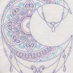 фото Эскизы тату полумесяц от 18.06.2018 №186 - Sketches of a moon tattoo - tatufoto.com