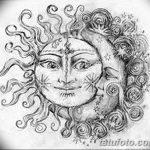 фото Эскизы тату полумесяц от 18.06.2018 №190 - Sketches of a moon tattoo - tatufoto.com