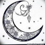 фото Эскизы тату полумесяц от 18.06.2018 №198 - Sketches of a moon tattoo - tatufoto.com