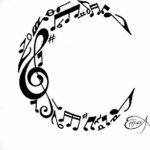 фото Эскизы тату полумесяц от 18.06.2018 №199 - Sketches of a moon tattoo - tatufoto.com
