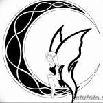 фото Эскизы тату полумесяц от 18.06.2018 №200 - Sketches of a moon tattoo - tatufoto.com
