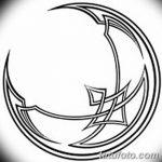 фото Эскизы тату полумесяц от 18.06.2018 №201 - Sketches of a moon tattoo - tatufoto.com