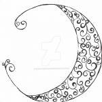 фото Эскизы тату полумесяц от 18.06.2018 №203 - Sketches of a moon tattoo - tatufoto.com