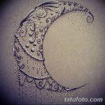 фото Эскизы тату полумесяц от 18.06.2018 №205 - Sketches of a moon tattoo - tatufoto.com
