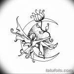 фото Эскизы тату полумесяц от 18.06.2018 №208 - Sketches of a moon tattoo - tatufoto.com