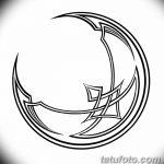 фото Эскизы тату полумесяц от 18.06.2018 №209 - Sketches of a moon tattoo - tatufoto.com