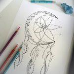 фото Эскизы тату полумесяц от 18.06.2018 №213 - Sketches of a moon tattoo - tatufoto.com