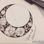 фото Эскизы тату полумесяц от 18.06.2018 №216 - Sketches of a moon tattoo - tatufoto.com