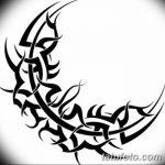 фото Эскизы тату полумесяц от 18.06.2018 №217 - Sketches of a moon tattoo - tatufoto.com