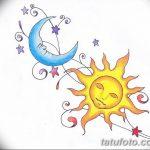 фото Эскизы тату полумесяц от 18.06.2018 №222 - Sketches of a moon tattoo - tatufoto.com
