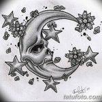 фото Эскизы тату полумесяц от 18.06.2018 №224 - Sketches of a moon tattoo - tatufoto.com