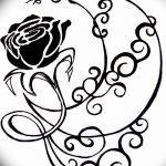 фото Эскизы тату полумесяц от 18.06.2018 №225 - Sketches of a moon tattoo - tatufoto.com