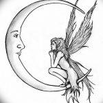 фото Эскизы тату полумесяц от 18.06.2018 №226 - Sketches of a moon tattoo - tatufoto.com