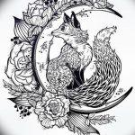 фото Эскизы тату полумесяц от 18.06.2018 №227 - Sketches of a moon tattoo - tatufoto.com