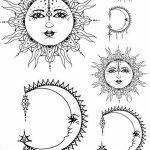 фото Эскизы тату полумесяц от 18.06.2018 №228 - Sketches of a moon tattoo - tatufoto.com