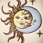 фото Эскизы тату полумесяц от 18.06.2018 №229 - Sketches of a moon tattoo - tatufoto.com