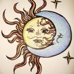 фото Эскизы тату полумесяц от 18.06.2018 №230 - Sketches of a moon tattoo - tatufoto.com