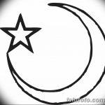 фото Эскизы тату полумесяц от 18.06.2018 №231 - Sketches of a moon tattoo - tatufoto.com