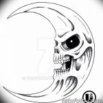 фото Эскизы тату полумесяц от 18.06.2018 №232 - Sketches of a moon tattoo - tatufoto.com