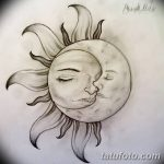 фото Эскизы тату полумесяц от 18.06.2018 №233 - Sketches of a moon tattoo - tatufoto.com