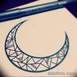 фото Эскизы тату полумесяц от 18.06.2018 №237 - Sketches of a moon tattoo - tatufoto.com