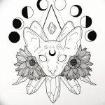 фото Эскизы тату полумесяц от 18.06.2018 №238 - Sketches of a moon tattoo - tatufoto.com