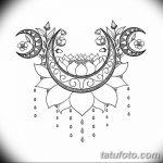 фото Эскизы тату полумесяц от 18.06.2018 №239 - Sketches of a moon tattoo - tatufoto.com