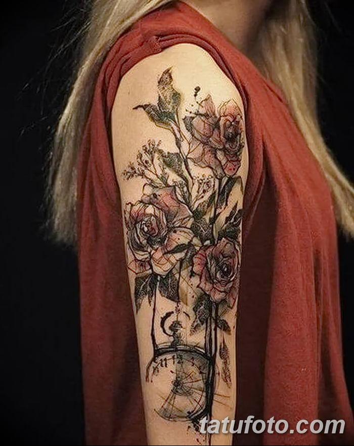 фото рисунок женской тату от 03.06.2018 №049 - drawing of female tattoo - tatufoto.com