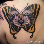 фото татуировка оскал тигра от 01.06.2018 №004 - tiger tattoo - tatufoto.com