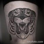 фото татуировка оскал тигра от 01.06.2018 №012 - tiger tattoo - tatufoto.com