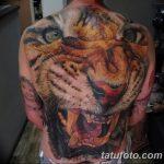 фото татуировка оскал тигра от 01.06.2018 №018 - tiger tattoo - tatufoto.com