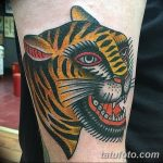 фото татуировка оскал тигра от 01.06.2018 №021 - tiger tattoo - tatufoto.com