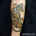 фото татуировка оскал тигра от 01.06.2018 №024 - tiger tattoo - tatufoto.com