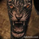 фото татуировка оскал тигра от 01.06.2018 №030 - tiger tattoo - tatufoto.com