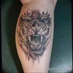 фото татуировка оскал тигра от 01.06.2018 №039 - tiger tattoo - tatufoto.com