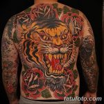 фото татуировка оскал тигра от 01.06.2018 №050 - tiger tattoo - tatufoto.com
