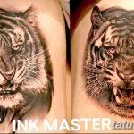 фото татуировка оскал тигра от 01.06.2018 №060 - tiger tattoo - tatufoto.com
