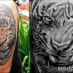 фото татуировка оскал тигра от 01.06.2018 №064 - tiger tattoo - tatufoto.com